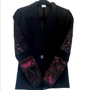Ozbek Black Turkish Textile Sleeved Blazer (6)